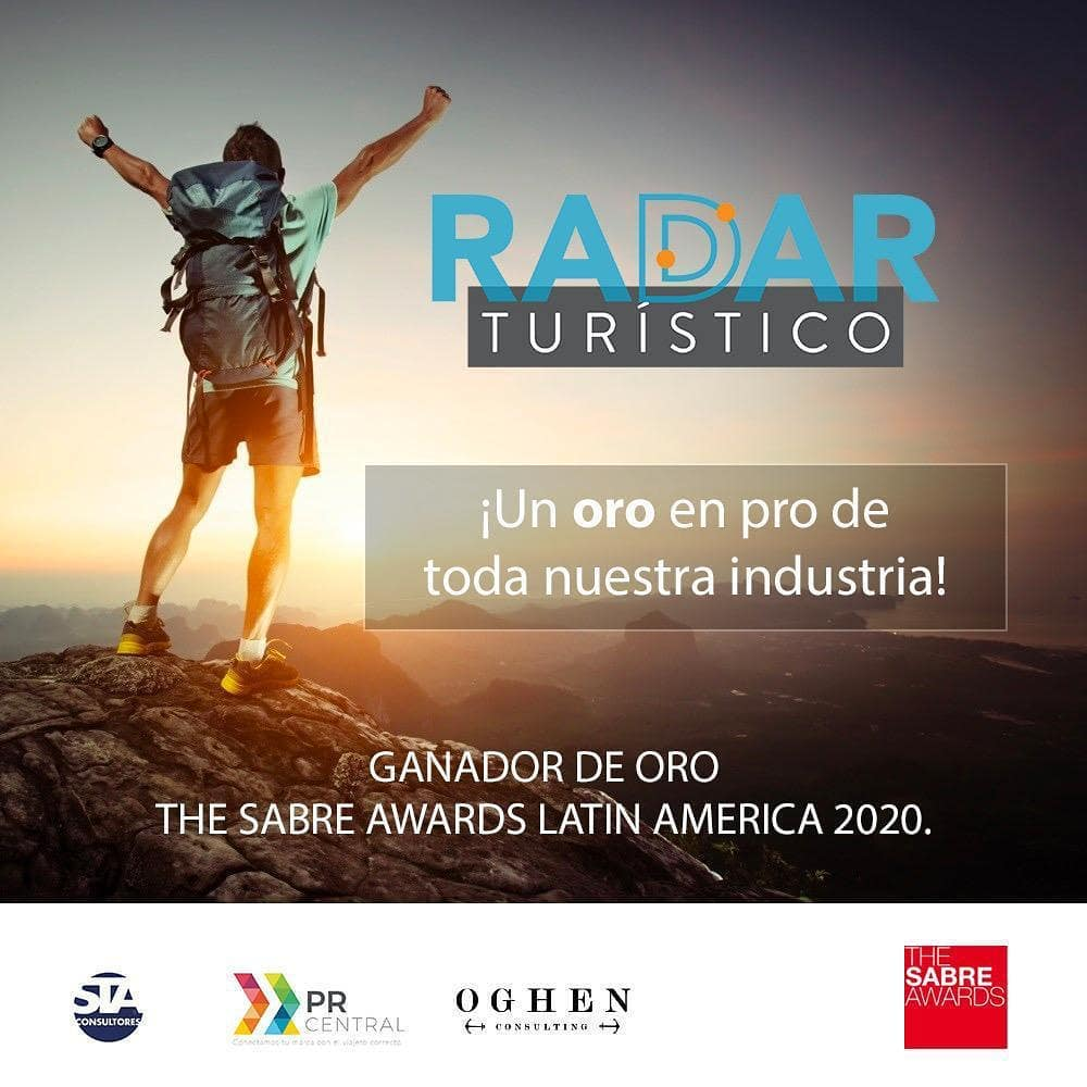 Radar Turístico Oro The Sabre Awards Latin America 2020